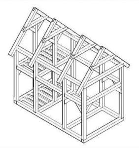 Стоечно-балочная конструкция дома