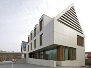 Здание из фиброцементного вентфасада