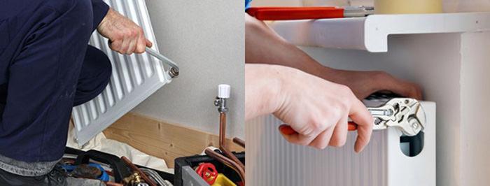 Монтаж крана отопления на радиатор
