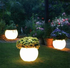 Сферическая лампа уличного освещения