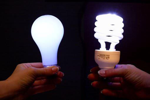 Светящиеся лампы в руках
