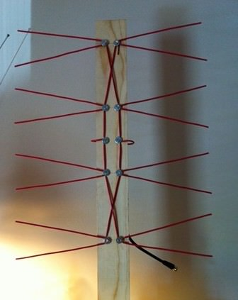 Телевизионная антенна, сделанная своими руками