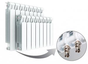Монолитный биметаллический радиатор
