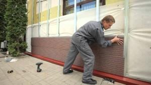 Монтаж фасадной панели на ровную поверххность