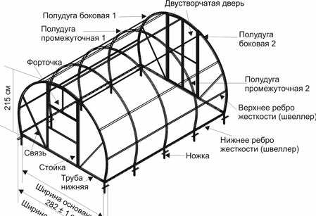 Общий вид теплицы из поликарбоната