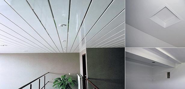Потолочные панели из пластика
