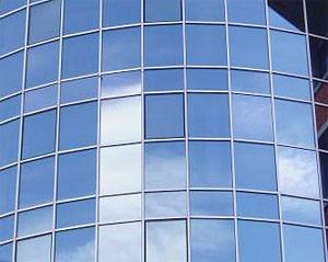 Стеклянная фасадная панель
