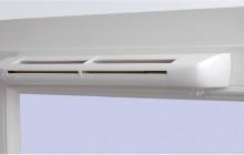 Вентиляционный клапан на пластиковом окне