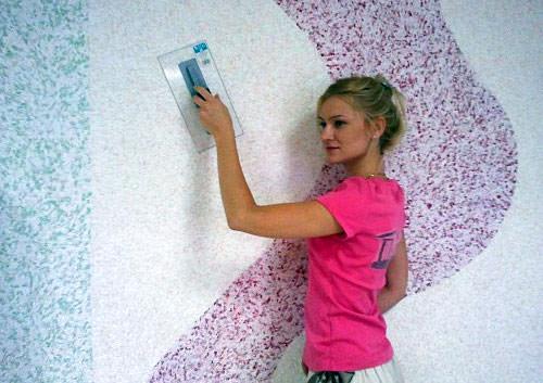 жидкие обои фото как их наносить на стену